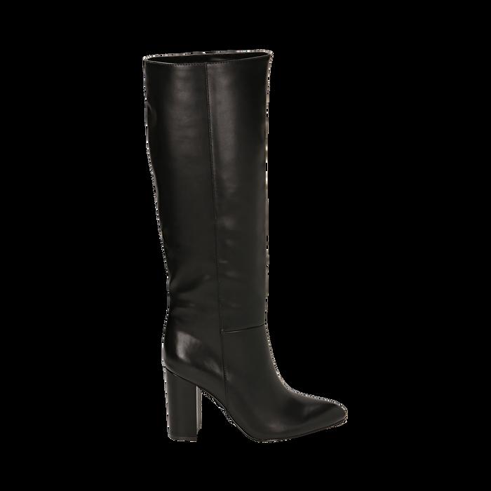 Stivali neri, tacco 9,50 cm , Primadonna, 163026501EPNERO035