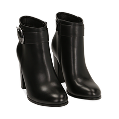Ankle boots neri con fibbia, tacco 9,50 cm , Primadonna, 163058705EPNERO036, 002 preview