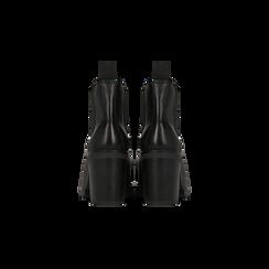Chelsea Boots neri in vera pelle, tacco alto 7,5 cm, Scarpe, 127723802PENERO, 003 preview