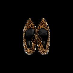 Décolleté leopard con punta affusolata, tacco stiletto 11 cm, Scarpe, 122146861MFLEOP040, 004 preview