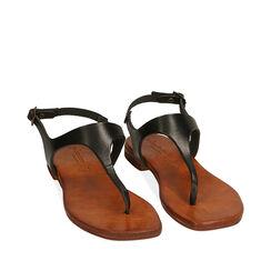 Sandales noir en cuir de vache, Primadonna, 177239378VANERO035, 002a