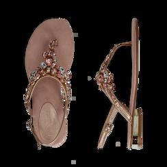 Sandali gioiello infradito nude in microfibra, Primadonna, 134994221MFNUDE, 003 preview