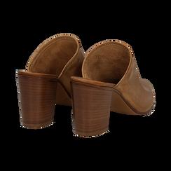 Mules cuoio in vera pelle, tacco 8 cm , Primadonna, 137725905PECUOI036, 004 preview