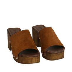 Sandales en daim cognac, talon de 7,5 cm, 174304850CMCOGN036, 002a