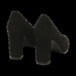 Décolleté nere in microfibra, tacco 9 cm , Promozioni, 162183311MFNERO037, 004 preview