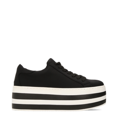 Sneakers nere con suola platform a righe 6 cm, 12A777615LYNERO036, 001a