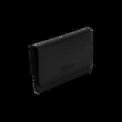 Portafoglio nero in eco-pelle con laccetto per il polso, Borse, 133723651EPNEROUNI, 002 preview
