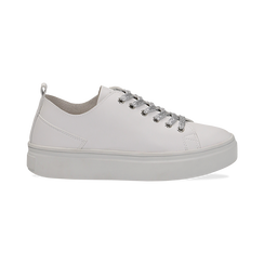 Sneakers bianche in eco-pelle, Scarpe, 132500778EPBIAN036, 001 preview
