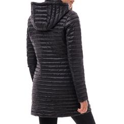 Piumino con cappuccio nero in tessuto , Abbigliamento, 148500502TSNERO3XL, 002a