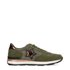 Sneakers verdi dettagli glitter e metallizzati , Primadonna, 121308201LMVERD035, 001a