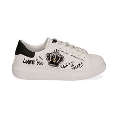 Sneakers nere con corona, Primadonna, 172621011EPBIAN035, 001 preview