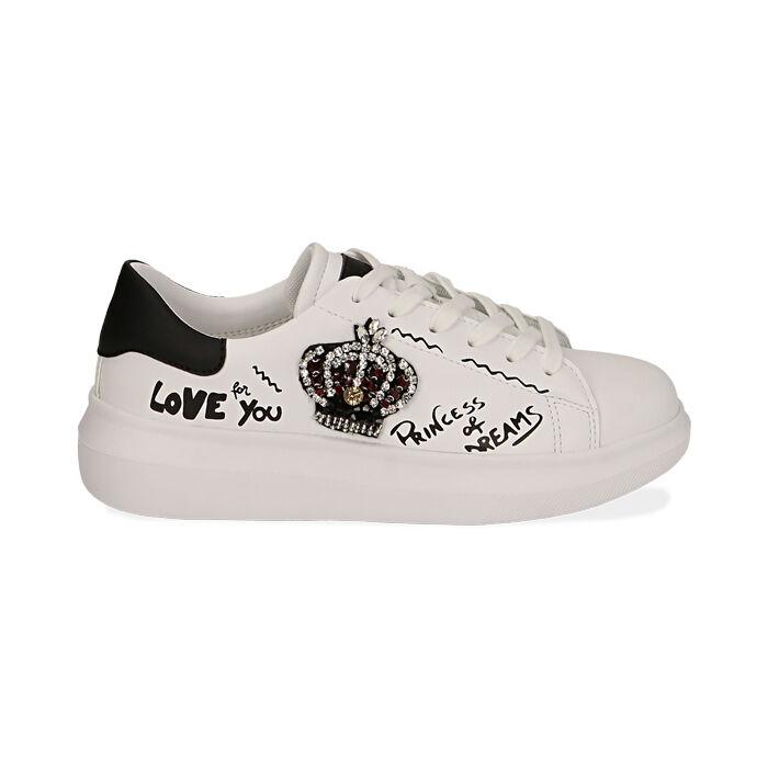 Sneakers nere con corona, Primadonna, 172621011EPBIAN035