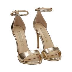 Sandali oro laminato, tacco 11,5 cm, Primadonna, 172133410LMOROG038, 002 preview