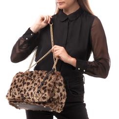 Borsa leopard in eco-fur, Borse, 141918834FULEMAUNI, 002a
