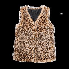 Smanicato di Pelliccia Leopardata, Abbigliamento, 12B400303FULEOP, 001a preview