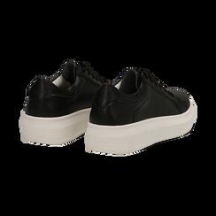 Sneakers nere in eco-pelle con suola flat, Scarpe, 132019051EPNERO036, 004 preview