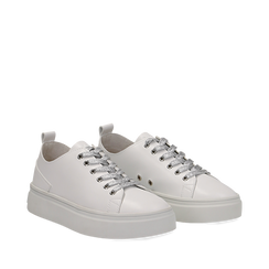 Sneakers bianche in eco-pelle, Scarpe, 132500778EPBIAN036, 002a