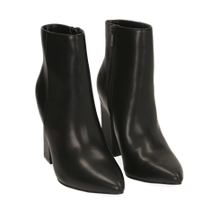 Ankle boots neri, tacco 10 cm , 164822754EPNERO036, 002a