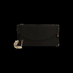 Pochette nera in microfibra , Borse, 165122502MFNEROUNI, 001 preview