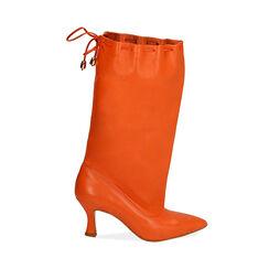 Bottes en cuir orange, talon de 7,5 cm, Primadonna, 17A506766PEARAN036, 001 preview