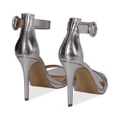 Sandali argento in laminato, tacco stiletto 10 cm , Primadonna, 132127405LMARGE037, 004 preview