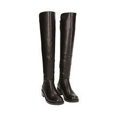 Stivali overknee neri, tacco 4,5 cm , Primadonna, 183025001EPNERO035, 002a