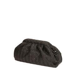 Maxi clutch nera in rafia, Primadonna, 175126681RFNEROUNI, 002a