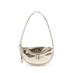 Petit sac argenté en simili-cuir brillant, Sacs, 155122722LMARGEUNI, 001a