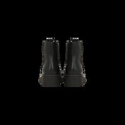 Chelsea Boots neri in vera pelle con tacco basso, Scarpe, 120639020EPNERO, 003 preview