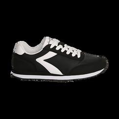 Sneakers nere in tessuto, design aerodinamico, Scarpe, 132619024TSNERO036, 001 preview