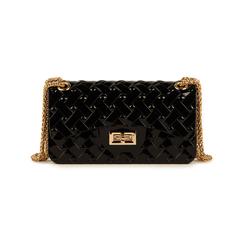 Mini-bag matelassé nera in pvc, Borse, 15C809988PVNEROUNI, 001 preview
