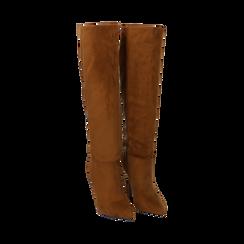 Stivali cuoio in microfibra, tacco 10,50 cm , Primadonna, 162146862MFCUOI035, 002 preview