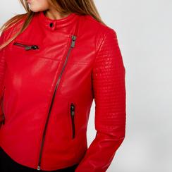 Giacca ecopelle corta rossa, Abbigliamento, 126577302EPROSS, 005 preview