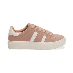 Sneakers rosa in microfibra stile vintage Seventies, Scarpe, 130101157MFROSA036, 001 preview