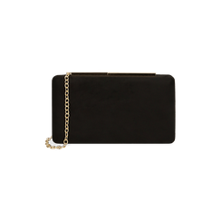 Clutch nera in microfibra, IDEE REGALO, 165109588MFNEROUNI, 001 preview