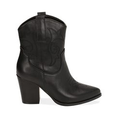 Camperos neri, tacco 8,5 cm , Scarpe, 170581020EPNERO035, 001 preview