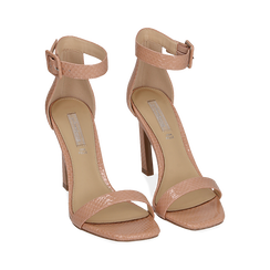 Sandali nude in vernice, tacco 10,50 cm , OUTLET, 151755083VENUDE037, 002 preview