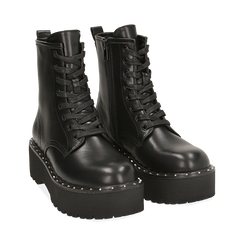 Bottines noir, platform 5,5 cm, Primadonna, 160622521EPNERO035, 002 preview