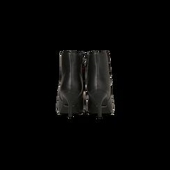 Tronchetti neri, tacco medio 5 cm, Scarpe, 122707332EPNERO, 003 preview