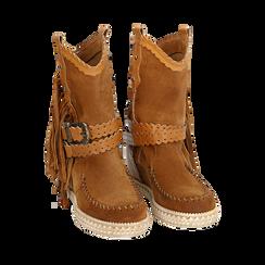 CALZATURA TRONCHETTI CAMOSCIO CUOI, Zapatos, 15A220102CMCUOI036, 002 preview