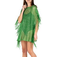 Poncho verde retinato, Primadonna, 15B402916TSVERDUNI, 001a