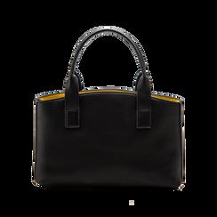 Mini bag nero-gialla in ecopelle, Saldi Borse, 122323219EPNEGIUNI, 002 preview