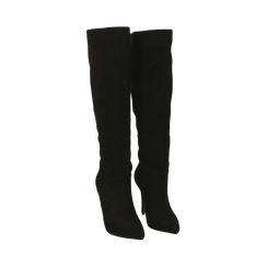 Stivali neri in microfibra, tacco 10,50 cm , Primadonna, 162146862MFNERO035, 002 preview