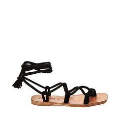 Sandales en tissu noir, Primadonna, 17A131482TSNERO035, 001a