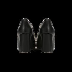 Tronchetti neri con oblò metallo, tacco 7 cm, Primadonna, 128405082EPNERO, 003 preview