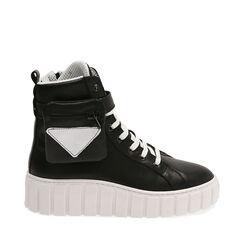 Sneakers nere in pelle, Primadonna, 17L645608PENERO035, 001a