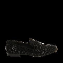 Mocasines en color negro con pedrería, Primadonna, 164982508MPNERO035, 001a