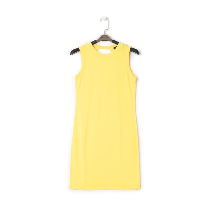 Mini-dress giallo con scollo sul retro, Primadonna, 13F750832TSGIALL