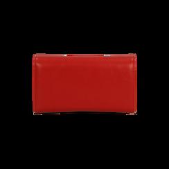 Portafoglio rosso in ecopelle, Saldi, 122200898EPROSSUNI, 002 preview