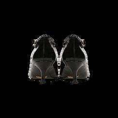 Décolleté nere kitten heels in vernice, tacco 3 cm, Primadonna, 124951721VENERO036, 003 preview